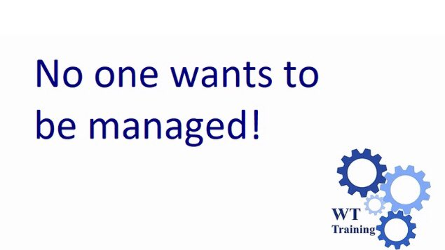 """Do you eve lesson wake up and think """"I want someone to manage me today """" 🤔 I don't think anyone does.... https://t.co/qrpLBBYqOj #workingtogether #softskills #peoplemanagement #hr #mondaythoughts https://t.co/PQRrC87KEb"""