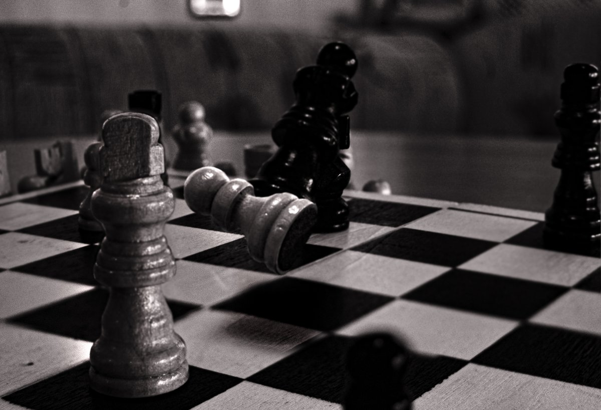 The sacrifice  prints available here:   Follow me on Facebook:   Follow me on Instagram:   #chess #king #pawn #queen #game #sacrifice #bnw #bnwphotography  #photoshop #blackandwhitephotography #blackandwhite