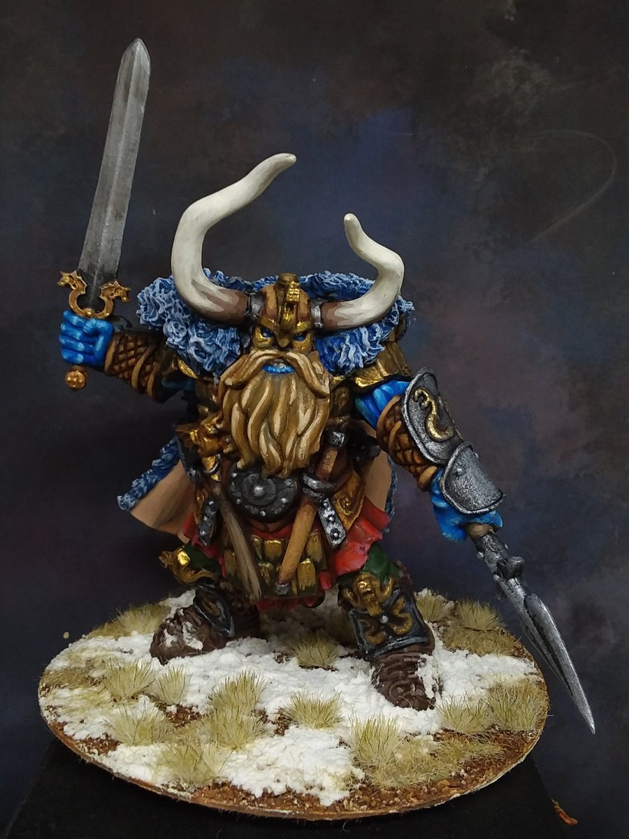 Reaper Miniatures Frost Giant painted for my personal collection.  #PaintingMiniatures #DungeonsandDragons #pathfinderrpg #reaperminis #Bones #painting #miniatures https://t.co/hKknbkDlEz