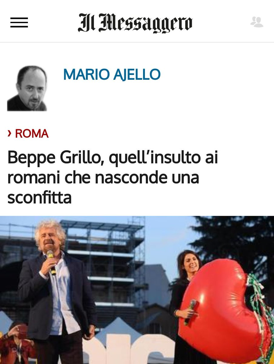 """test Twitter Media - La miglior risposta a @beppe_grillo è di @ajello63 sul @ilmessaggeroit: ➡️""""#Grillo non ama #Roma perché è troppo più grande di lui""""⬅️👏🏻. Aggiungiamo """"...di loro""""❗ https://t.co/Fa2oBJWW7x"""