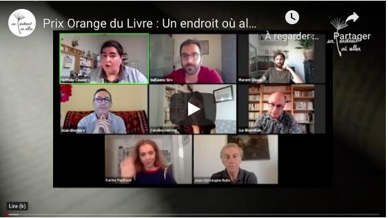 À (re)voir🎥 : la rencontre littéraire exceptionnelle avec les 5 finalistes du Prix Orange du Livre 2020, en partenariat avec @1endroitoualler ➡️https://t.co/LtcK29gYX0  📙Guillaume Sire - Lauréat 📘Luc Blanvillain 📘Alain Blottière 📘Caroline Laurent 📘Florent Oiseau https://t.co/jRSWXgQoRJ