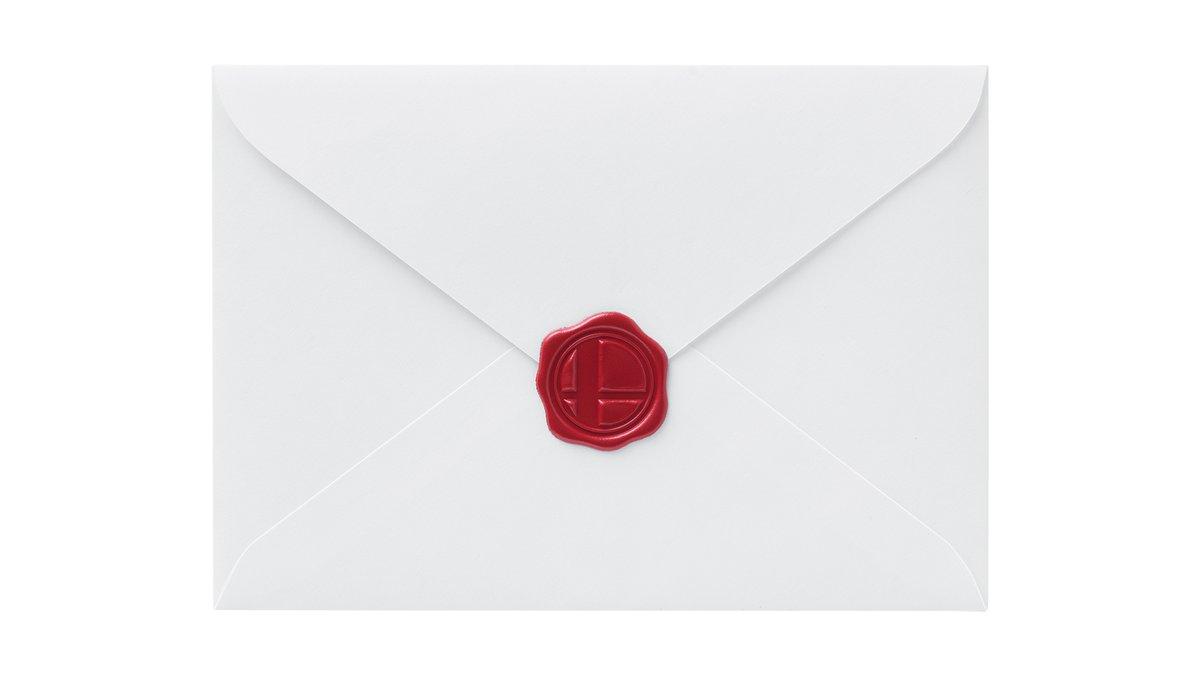 【参戦!!】スマブラおなじみの「参戦招待状」、公式レターセットが登場! https://t.co/QCrfD5IJDA  封蠟風のシールもついているという。15日からマイニンテンドーのプラチナポイントで交換できます。 https://t.co/JlF3ACnpxc