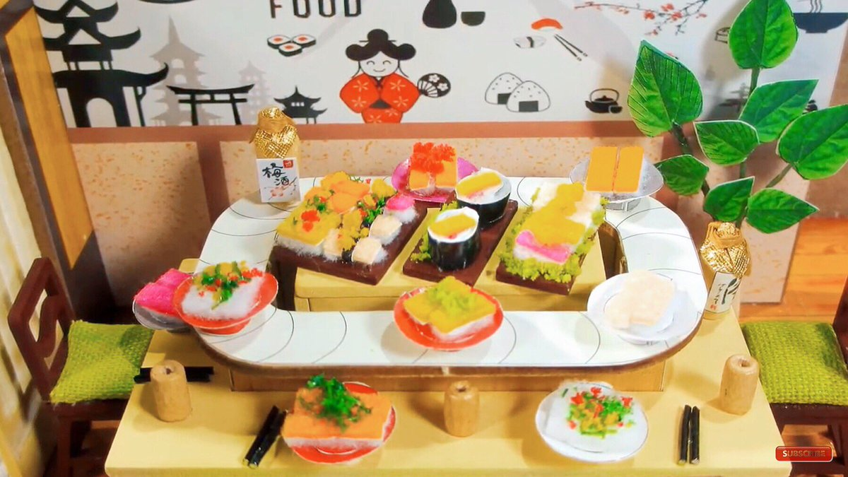 Japanese restaurant: https://t.co/IcZLiOfmbg.                            #sushi #japaneserestaurant #japan #streetfood #restaurant #diy #miniaturehouse #miniatures https://t.co/4YpKaDNOTu