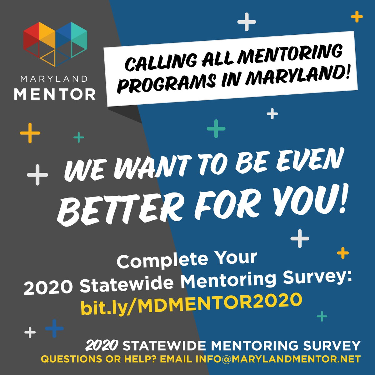 Are you a Mentoring Program in Maryland? Take our survey! bit.ly/MDMENTOR2020