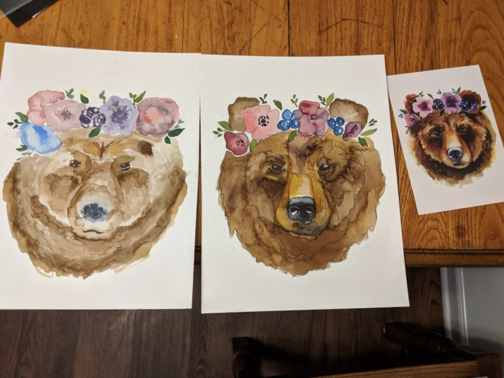 My Youngest and my boyfriend did watercolor together at their sleepover last night. Look at how well these two did!! #proudMama pic.twitter.com/amDkolXu7F
