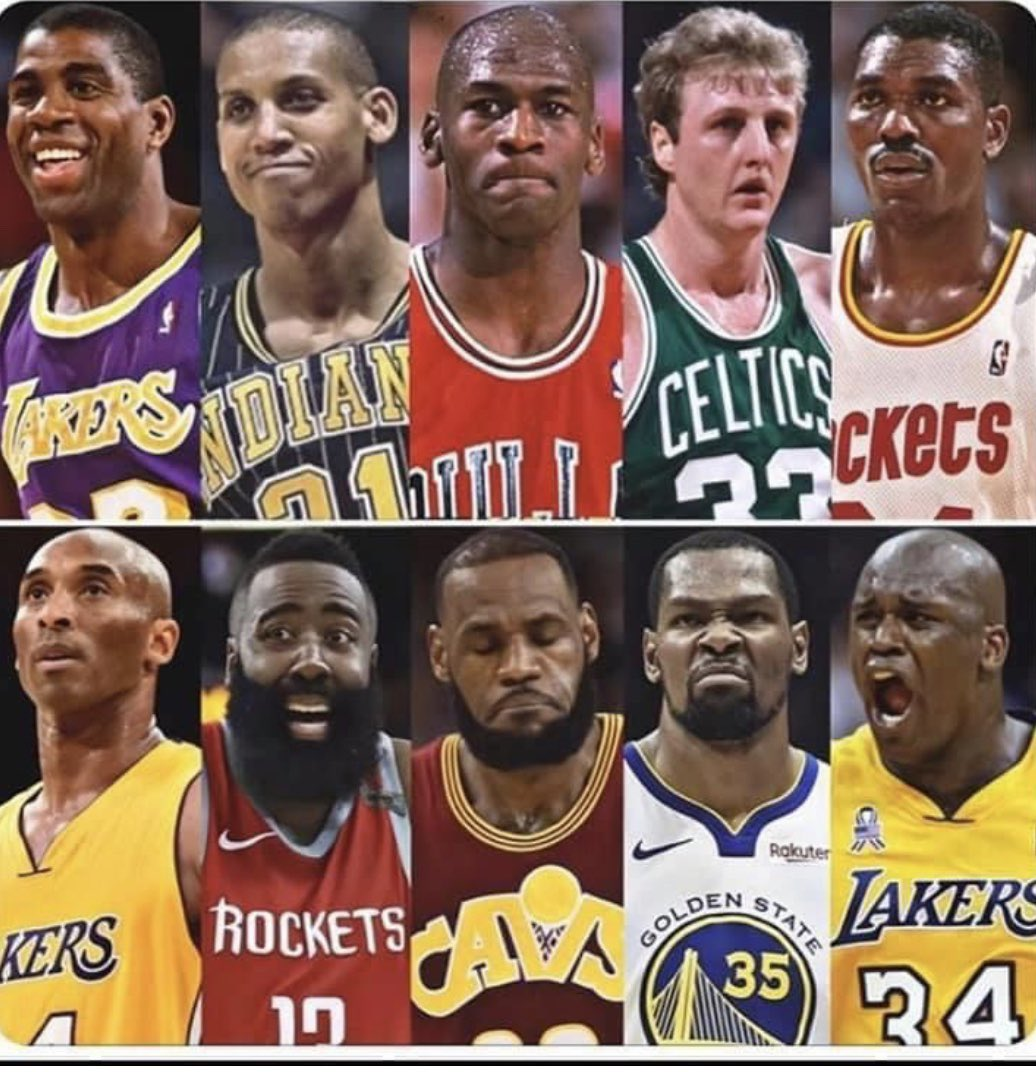 Who wins this matchup, top or bottom team? All players in their prime.      #nba #nbafan #basketballisback #basketball #basketballfan #sportsbetting #sports #baller #fitness #basketball #nfl #nba #training #nbateam #gym #workout #gameon #athlete #motivation #bball #PollOfTheDaypic.twitter.com/Kjmwj2uIM4