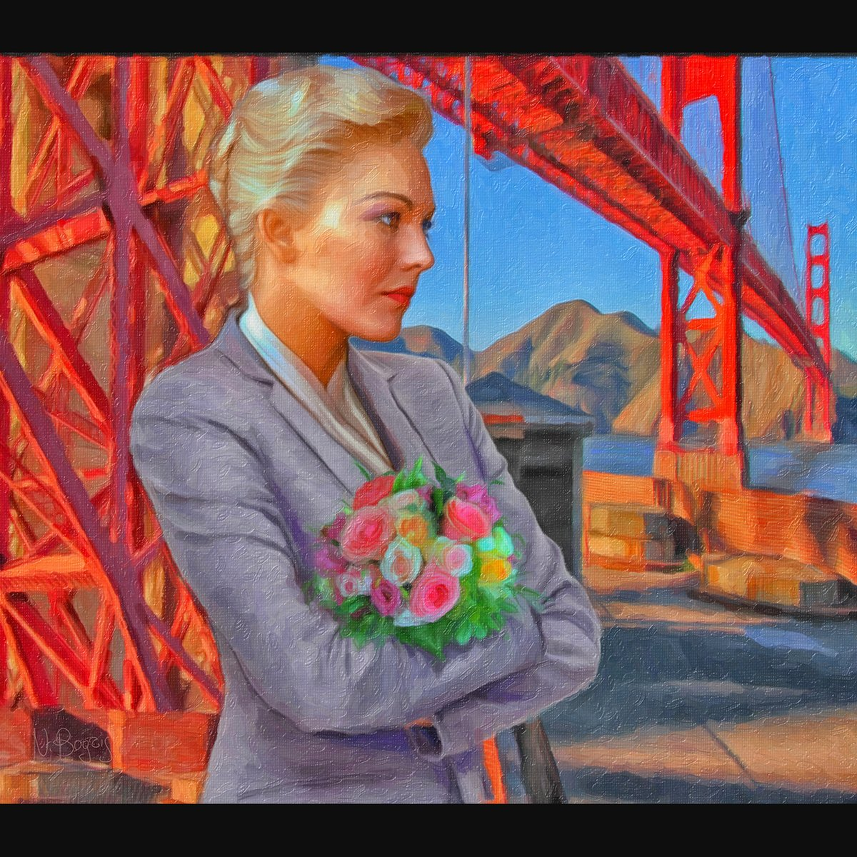 Madeleine (2020) . Commision, oil painting inspired by the Alfred Hitchcock masterpiece film #Vertigo . #oilpainting #illustration #art #artist #poster #painter #絵 #design #painting  #artwork #film #print #KimNovak  #illustrator #portrait #drawing #그림 #SanFrancisco #Hitchcock pic.twitter.com/5dAyglIExV