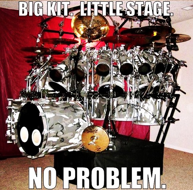 To all the #Drummers out there who have to make a lot out of a little! 🥁😆  #Drummer #Percussionist #OnStage #Timekeeping #BassDrum #Snare #HiHat #Toms #Cymbals #Drums #Musician #Performer #Stage #NeilPeart #JohnBonham #KeithMoon #DaveGrohl #PhilCollins #ChadSmith #JeffPorcaro https://t.co/yLPv06jzU6