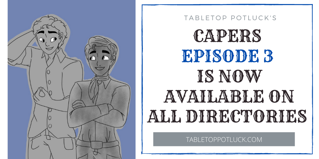 It's time for another episode of Capers by @NerdBurgerCraig with special guest @TomHarrison19  of ShuffleQuest!  https://t.co/D3SzeouE6L  #tabletopgaming #tabletop #ttrpg #podcast #PodernFamily #itsaTRAPP #roleplaying #capers https://t.co/f9MAN5CtZT