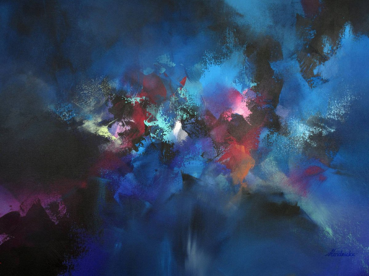 """Hi there!  Meet """"Whatever Floats your Boat"""" a bold 100 x 70 cm #abstract #painting.   Now available on my website! Link in bio  .  .  .   #art #artist #colorful #artlife #abstractpainting #landscape #buyart #artforsale #abstractart #dark #fantasypic.twitter.com/iGwLalvw4l"""