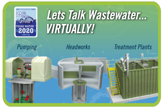 Let's Talk Wastewater... Virtually at Texas Water 2020!   #TXWater #TexasWater #Pumping #Headworks #GritRemoval #WastewaterTreatment #Water #Wastewater #WatersWorthIt  https://www.txwater.org/registration_form_2020.cfm …pic.twitter.com/zs05OEQEnj