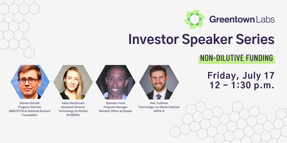 test Twitter Media - Wondering about ways to fund your #climatetech #startup beyond conventional venture capital? Join us for our July Investor Speaker Series on non-dilutive funding, featuring panelists from @NSF, @NYSERDA, @ARPAE, and @DraperLab! https://t.co/9LCodedXRP https://t.co/0b90zQhSAQ