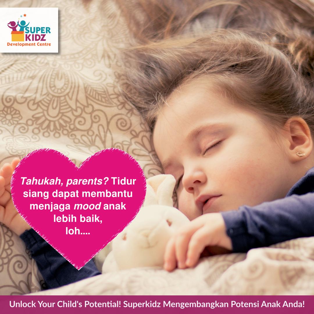 Hello, parents!   Tidur siang ternyata dapat menjaga suasana hati anak, lho!   #tumbuhkembanganak #tumbuhkembang #tidursiang #orangtuadananak #parentinganak #anakrewel #kliniktumbuhkembanganak #KlinikTumbuhKembangAnakSuperkidz #kliniksuperkidzpic.twitter.com/cwkwyGArUD
