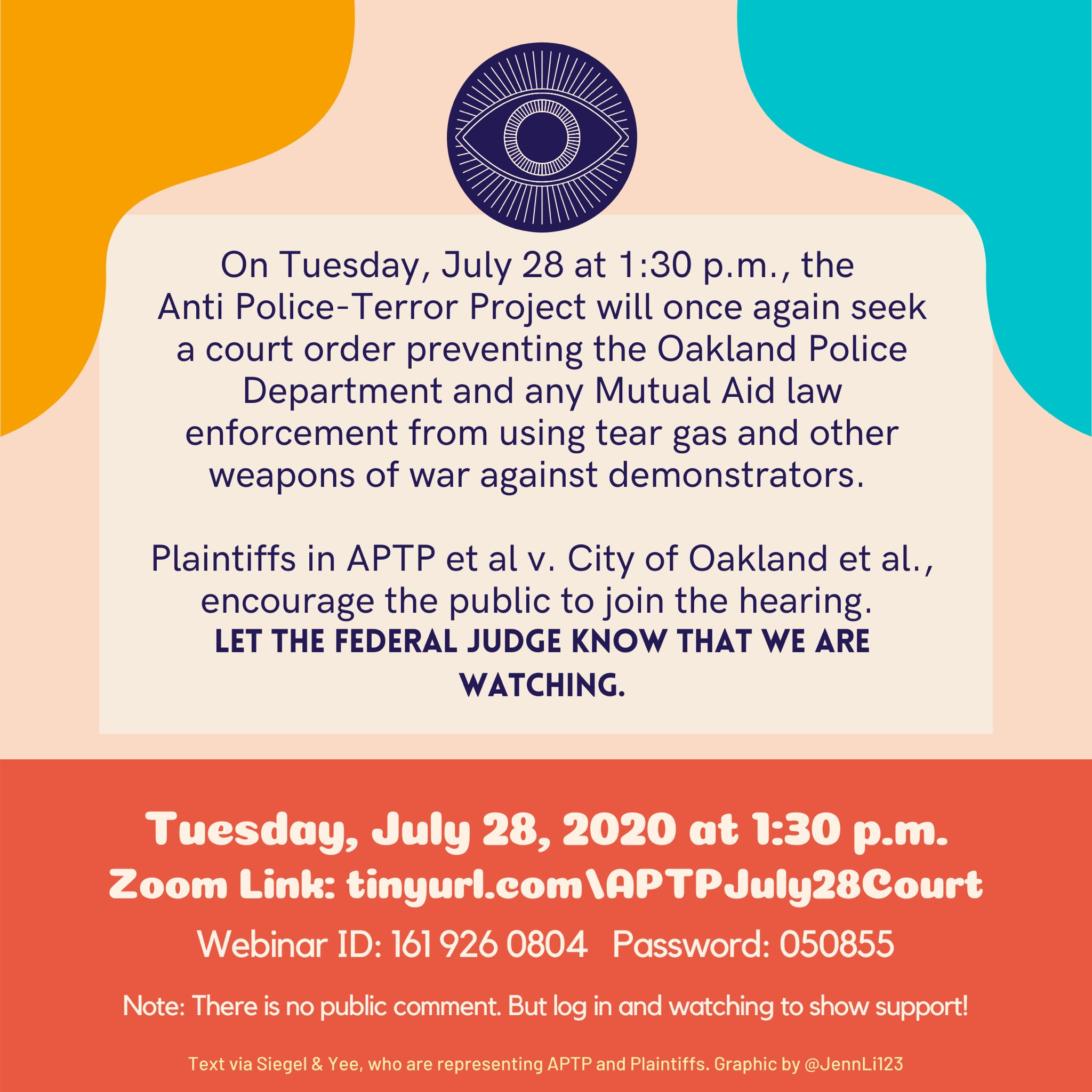 Court Hearing on Tear Gas Use in Oakland @ ONLINE