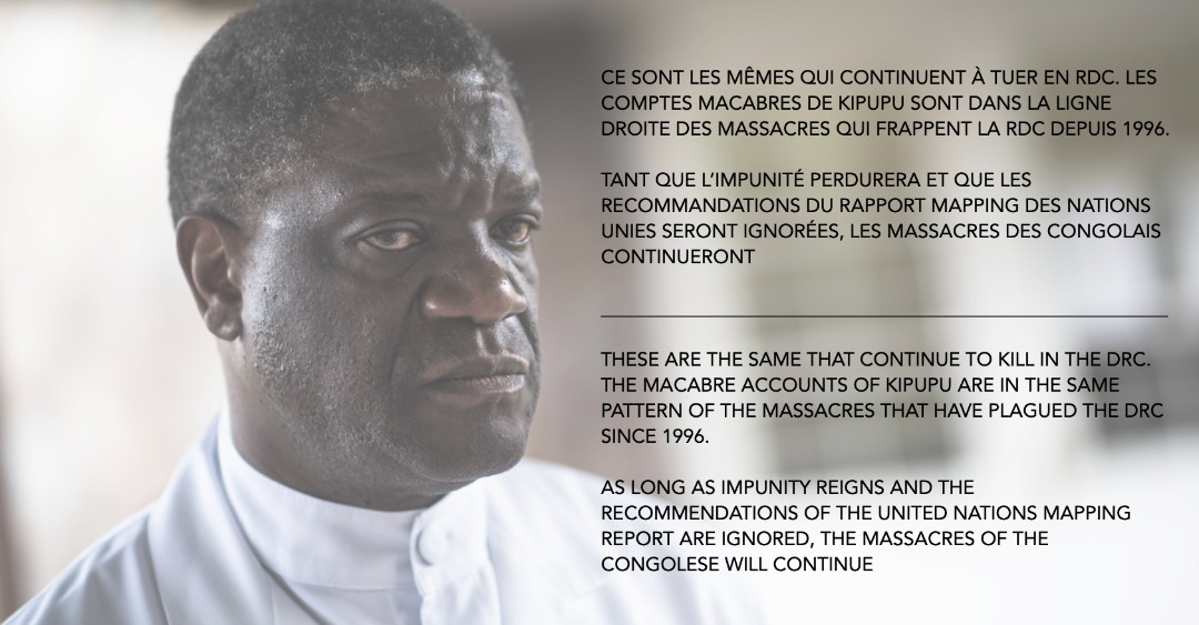 Tweet Dr mukwege sur Kipupu