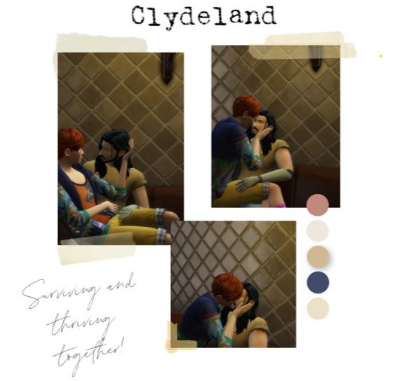 Clyde & Stensland = Clydeland  our first photos together