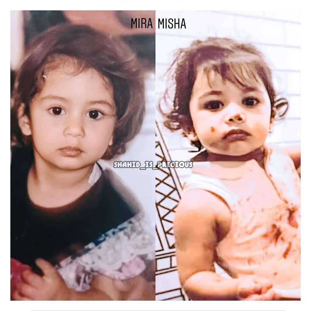LIKE MOTHER, LIKE DAUGHTER  Their Eyes, Their Nose,Their Hair, Their Lips, Their Eyebrows, Their Fingers, And Their Looks  DITTO #MiraRajputKapoor #MishaKapoor #SheGotItFromHerMumma @shahidkapoor #ShahidKapoor @shahidkapoorFC @Shahid_Onlinepic.twitter.com/ovJOVBnAgX