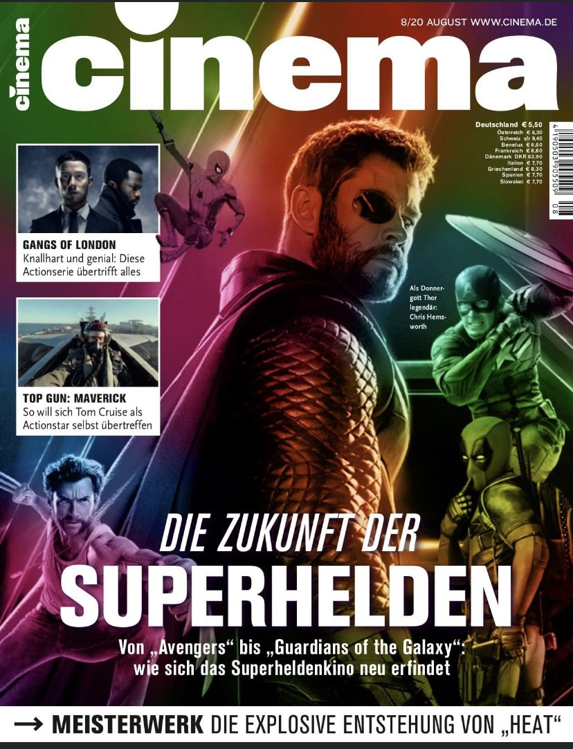 """Die neue Ausgabe - jetzt im Handel. Superhelden am Ende? Making-of """"Heat"""", Fairsex, Fantasy-Trash, Bill & Ted 3, uvm. #marvel #superhelden #mcu #cinema #filme #serien #netflix #disney #kino #movies #wirliebenkino #thor #loki #spiderman #gangsoflondon #topgun #heat #cinemamagazin https://t.co/5Z5OmcCsub"""