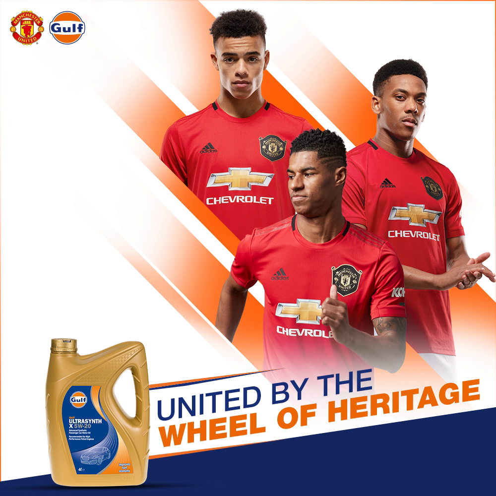 We come together through our incredible legacy, with our eyes on the road ahead.  Catch us in action! Leicester City V @ManUtd. 26.07.20. 4:00 PM BST  #GulfOilInternational #ManchesterUnited #MUFC #GGMU #Football https://t.co/0VSUgOP8Dr