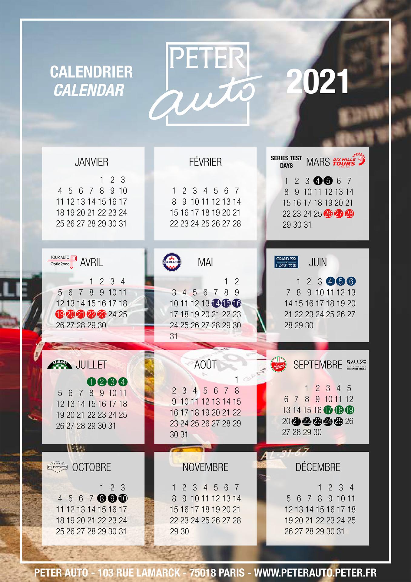Autres courses   Le calendrier Peter Auto 2021 annoncé avec Le