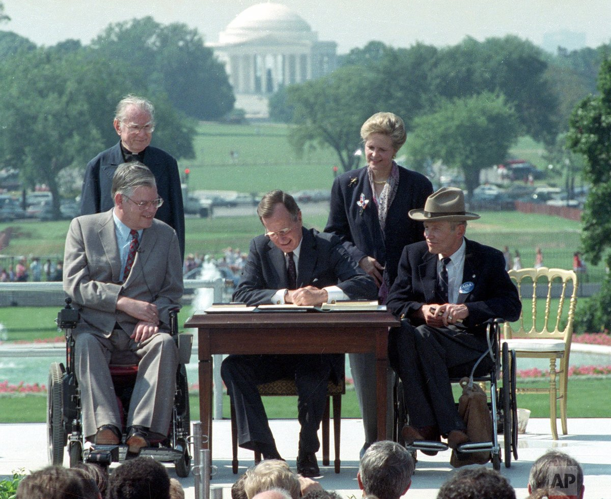 30 years ago today, President George H.W. Bush signed the Americans with Disabilities Act.