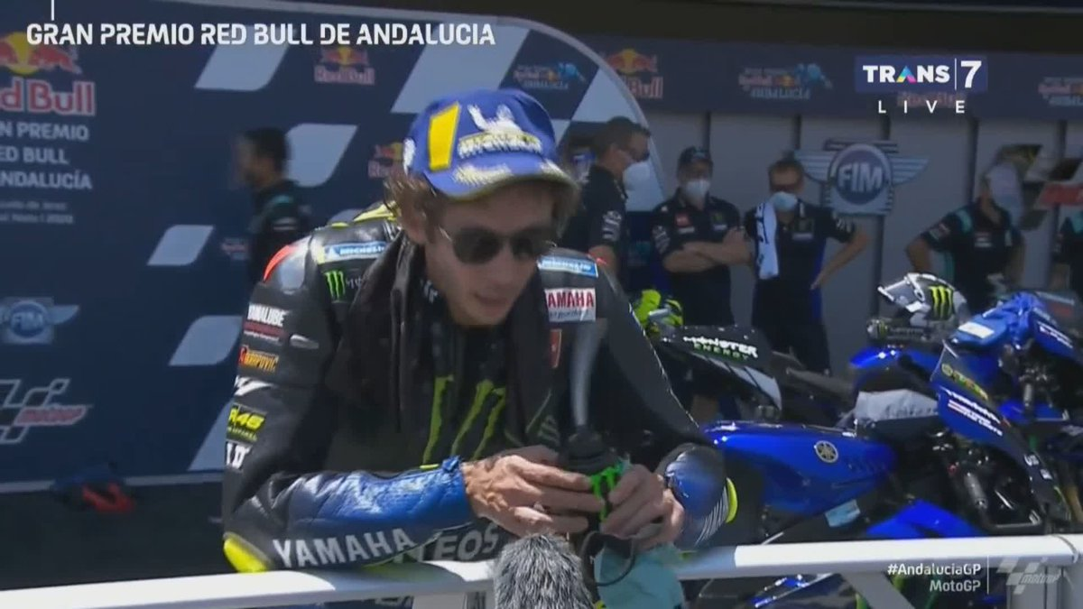 """""""it's not like victory, but similar"""" -  @ValeYellow46 #AndaluciaGP https://t.co/QliRh4t4XW"""