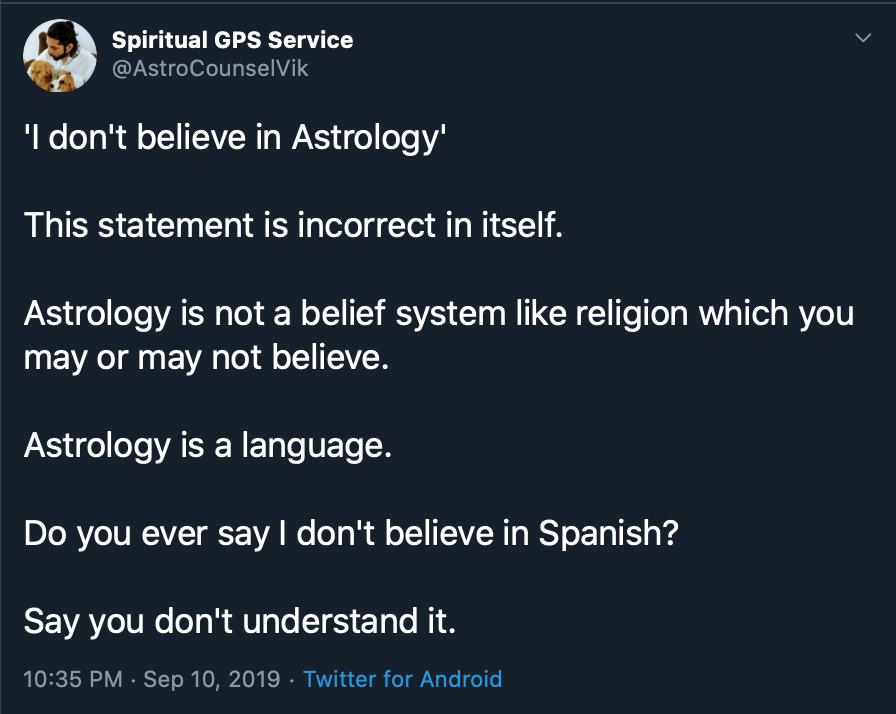 Astrology stupidity