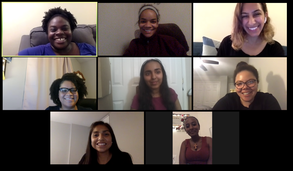 Smiling faces all around. Loved having an all WOC #medstudent Q&A. Sessions are 100% open to all but this was a special surprise! Discussed strategy 4 residency applications. #MedStudentTwitter Ill be holding these for as long as there is interest. DM if interested in joining. twitter.com/AdairaLandryMD…