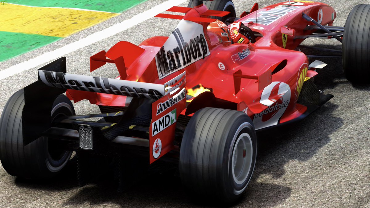 Excuse the Ferrari spam but today it's the turn of the F2005 at interlagos with exhaust backfire 🥰 #photography #ferrari #f1 #brazilgp https://t.co/ideLzVGJeg