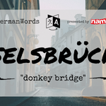 "Image for the Tweet beginning: #WeirdGermanWords: Eselsbrücke (literal translation: ""donkey"