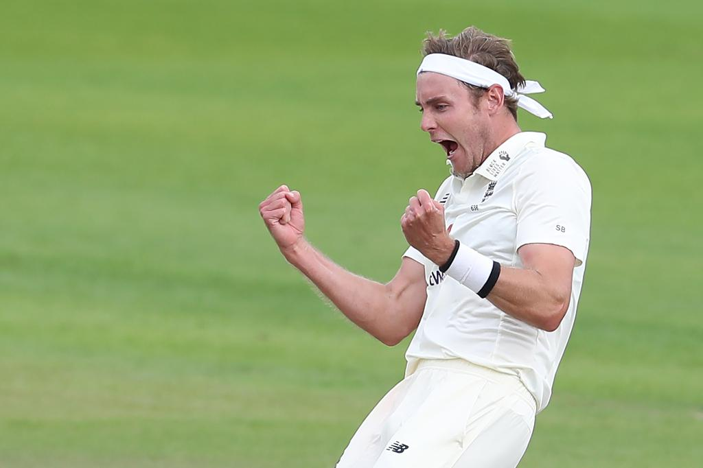 Stuart Broad has picked both the West Indies wickets to have fallen on the third day of the Test. (Credits: Twitter/ICC)