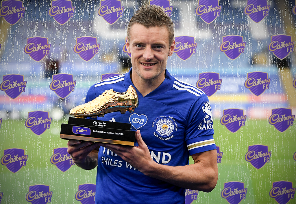33-year-old Jamie Vardy overtakes Didier Drogba as the oldest player to win the Golden Boot 💪