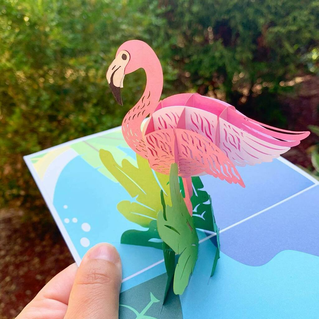 Saved this gorgeous flamingo pop-up card for my goddaughter, who celebrated her Sweet 16 yesterday. Thank you @hebestore.canada for the samples! Your #handmadecard designs are truly a work of art.  #giftedproduct #supportlocal #shoplocal #thehebestore #h… https://t.co/Zq9qqzEyVg https://t.co/CjnHQhsBrx