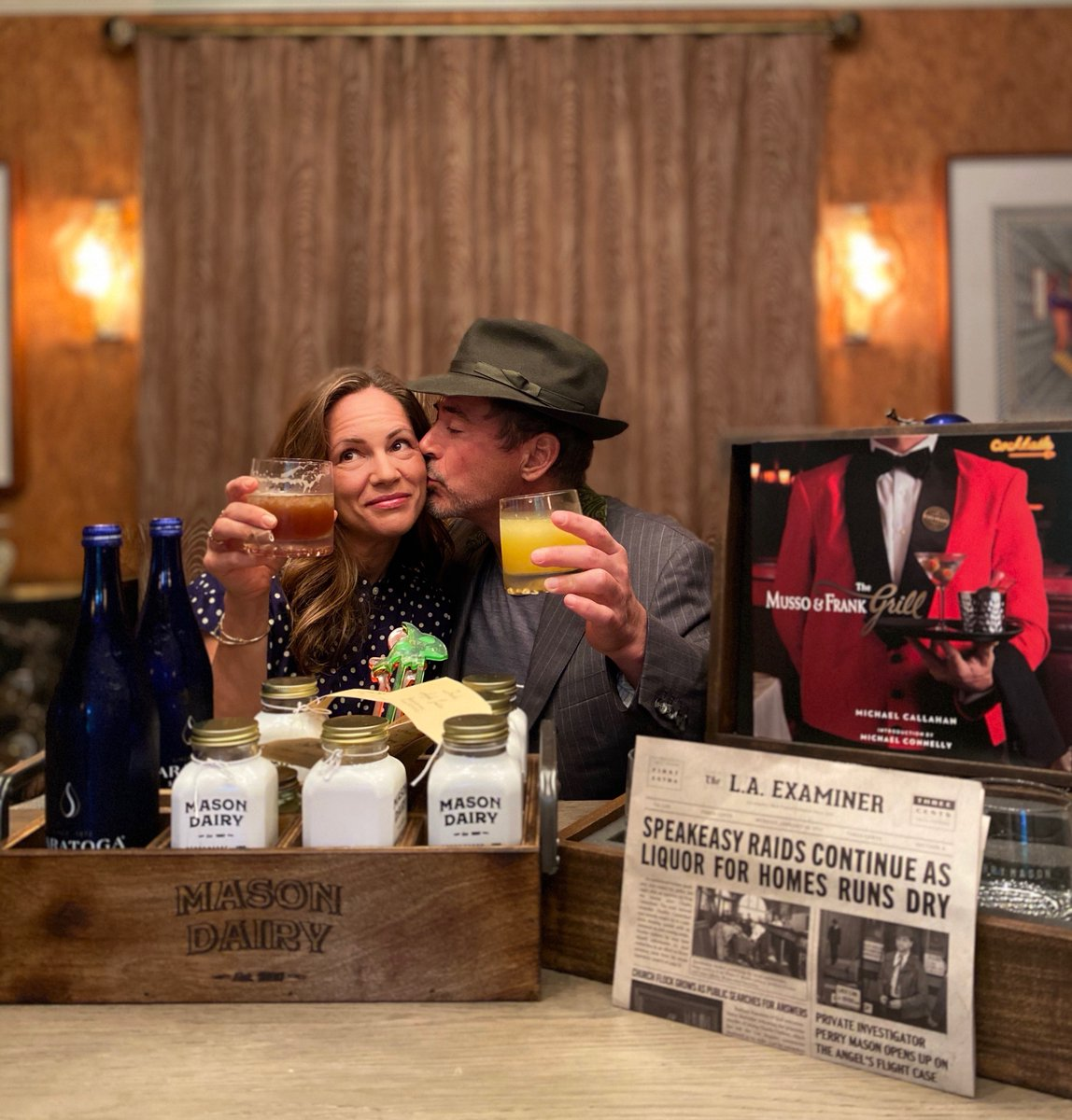 Tonight, court's in session. @PerryMasonHBO at 9 PM on @HBO. The missus and I are getting ready with a few bits and bobs from Perry's own Mason Farm. Celebrating local restaurants around since the time of the show. Tune in with us? #mocktails