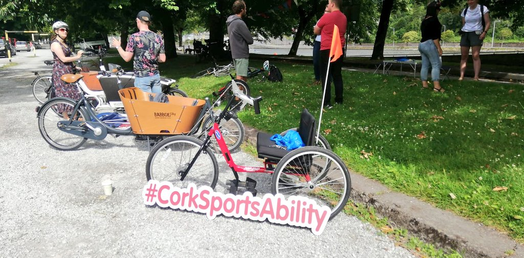 Delighted to showcase #CorkSportsAbility Handcycle at the Marina today for the Community Play Event & Cargo Bike Showcase 🎊  ℹ https://t.co/BULsu0V7f1  #KeepCorkActive   @PedestrianCork @CorkSports  @corkcitycouncil @CorkHealthyCity @CorkCyclingCrew @MarinaParkCork https://t.co/dgxjtU0vqi