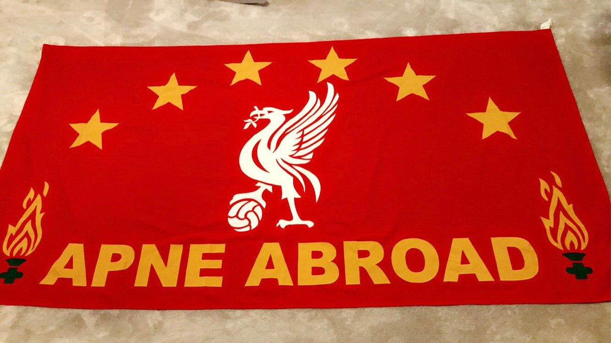 If Anyone Finds The Apne Abroad Flag, I'm Happy To Give 100 Reward As Has Sentimental Value! Please All Share...Last Seen In @TheSandon on Wednesday When We Became Champions! 🔴🏆 #ApneAbroad
