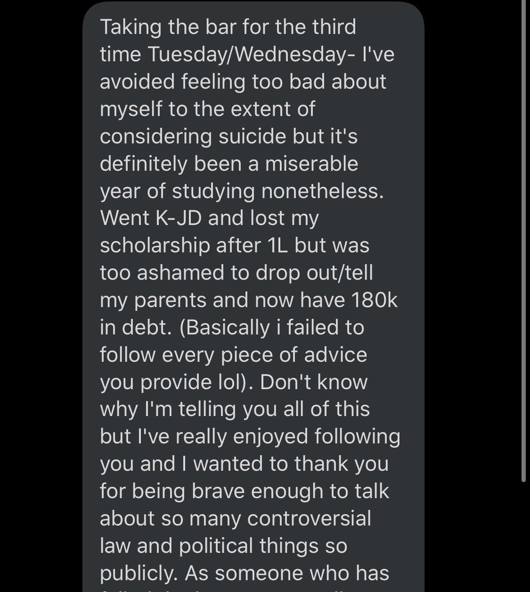Alex Peter On Twitter Someone Sent Me This Message Imagine The Mental Anguish Of This The Bar Exam Is Honestly Fucked Some People Just Have A Hard Time With Tests And The