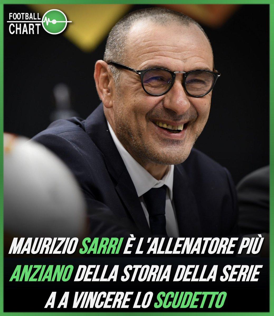 A 61 anni e 198 giorni, Maurizio #Sarri batte il precedente record di Nils #Liedholm (60 anni e 212 giorni).  #Juventus #Juve #SerieA #SerieATIM #Scudetto https://t.co/zzaRf0VEbE
