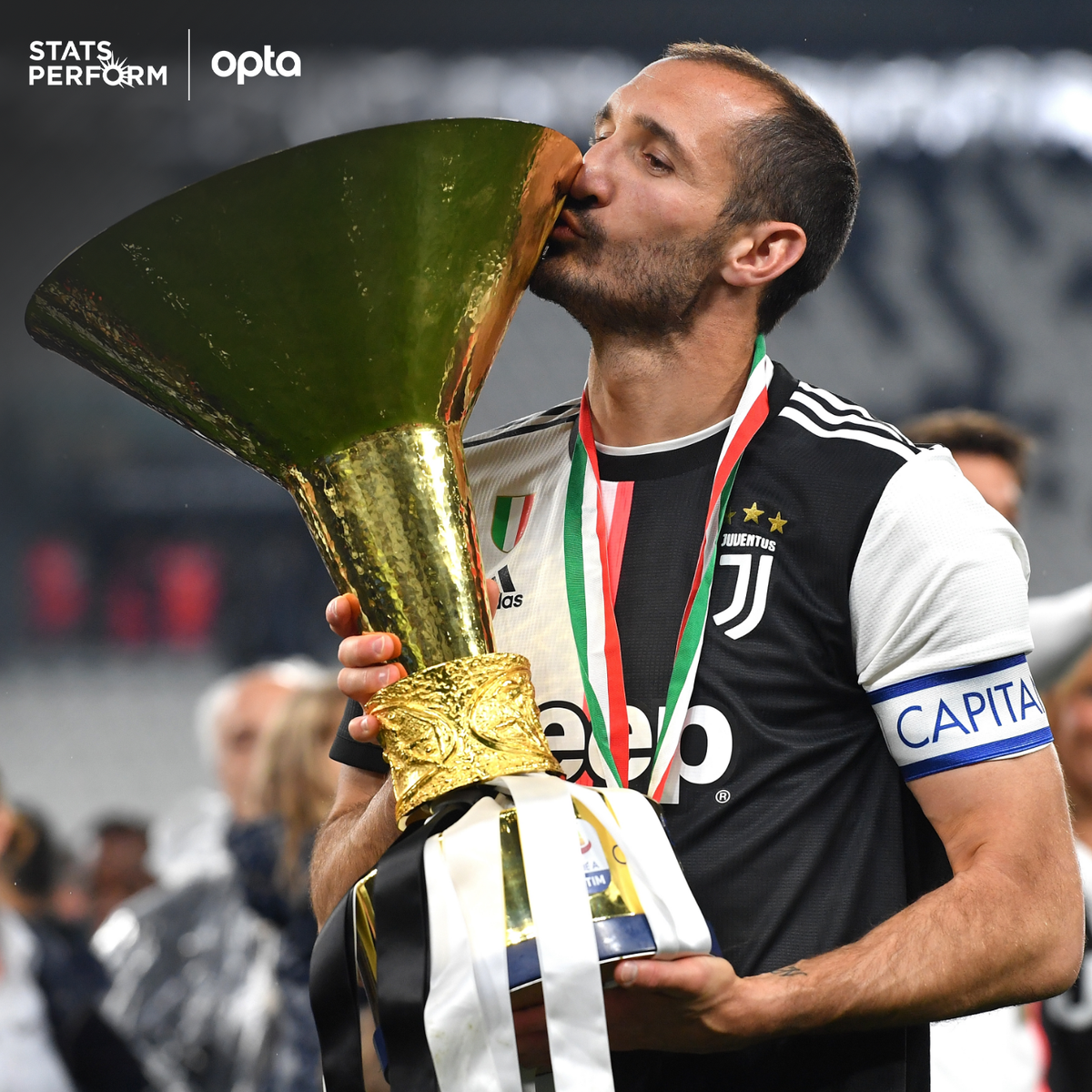 9 - Giorgio #Chiellini is the only #Juventus player with at least one appearance in Serie A in the last nine winning seasons. Captain.  #SerieA #JuveSamp #JuveSampdoria https://t.co/UcmkUM1G9p