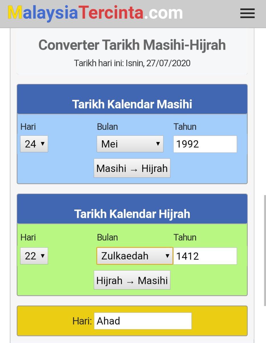 Tarikh Lahir Dalam Bulan Islam Converter