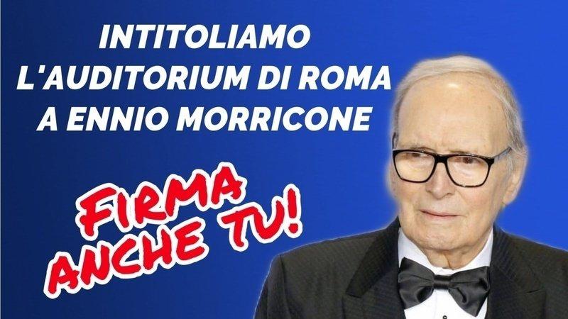 ✌️Vittoria! L'Assemblea Capitolina ha votato all'unanimità per l'intitolazione dell'Auditorium di Roma a Ennio Morricone. Un risultato reso possibile grazie all'impegno di tutti coloro che hanno firmato su https://t.co/Wg2wSbF22J 🎶 https://t.co/R5v4P84dcd