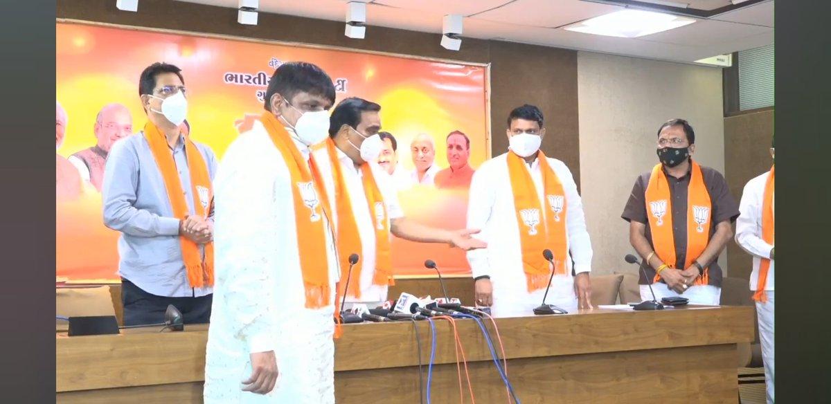 Jayesh Patel Delad joins BJP