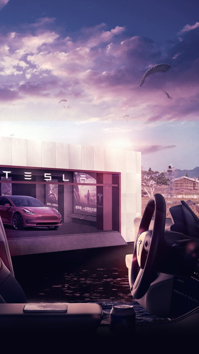 Tesla Greater China On Twitter Pick Up The Energetic Wallpapers And Charge Your Everyday Adventure