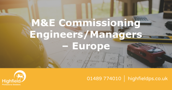 Get in touch! M&E Commissioning Engineers/Managers – Europe in #London. tinyurl.com/y4hjmtd8
