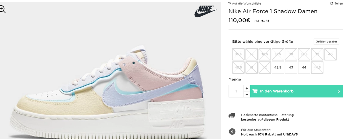Ballin Sneaks On Twitter Wmns Nike Air Force 1 Shadow Pastel Few Sizes On Jd Sports Eu Uk Https T Co Hw8inzxqns De Https T Co H3d55qzi5r Shop online at jd sports for the latest nike air force 1 shoes to upgrade your look. twitter