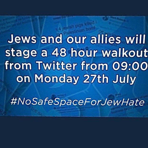 See you on Wednesday friends. #NoSafeSpaceForJewHate