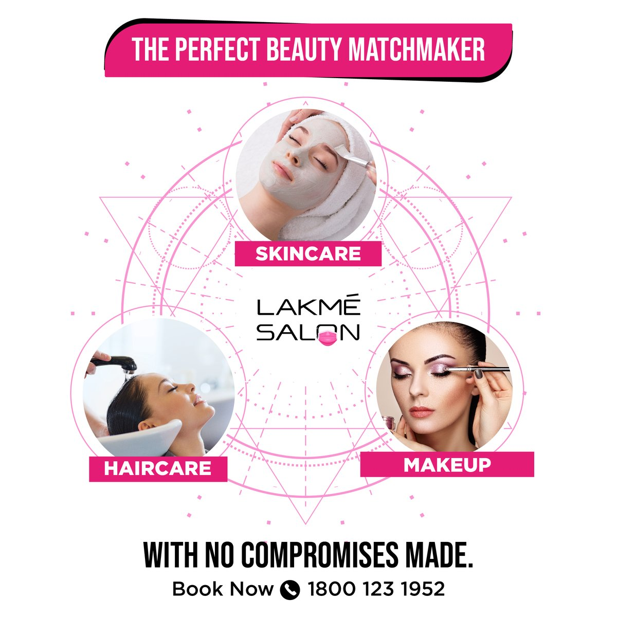 Looking for the right beauty partner? 😵 We've got you covered.📞 us on 1800-123-1952 or download the Lakmé Salon App  . #matchmaking #indianmatchmaking #beauty #lakmesalon #beautyneeds #haircareneeds #booknow #skincareneeds #pamper #nocompromise #selfcare #beautypartner #beauty https://t.co/C25e9PHDSC