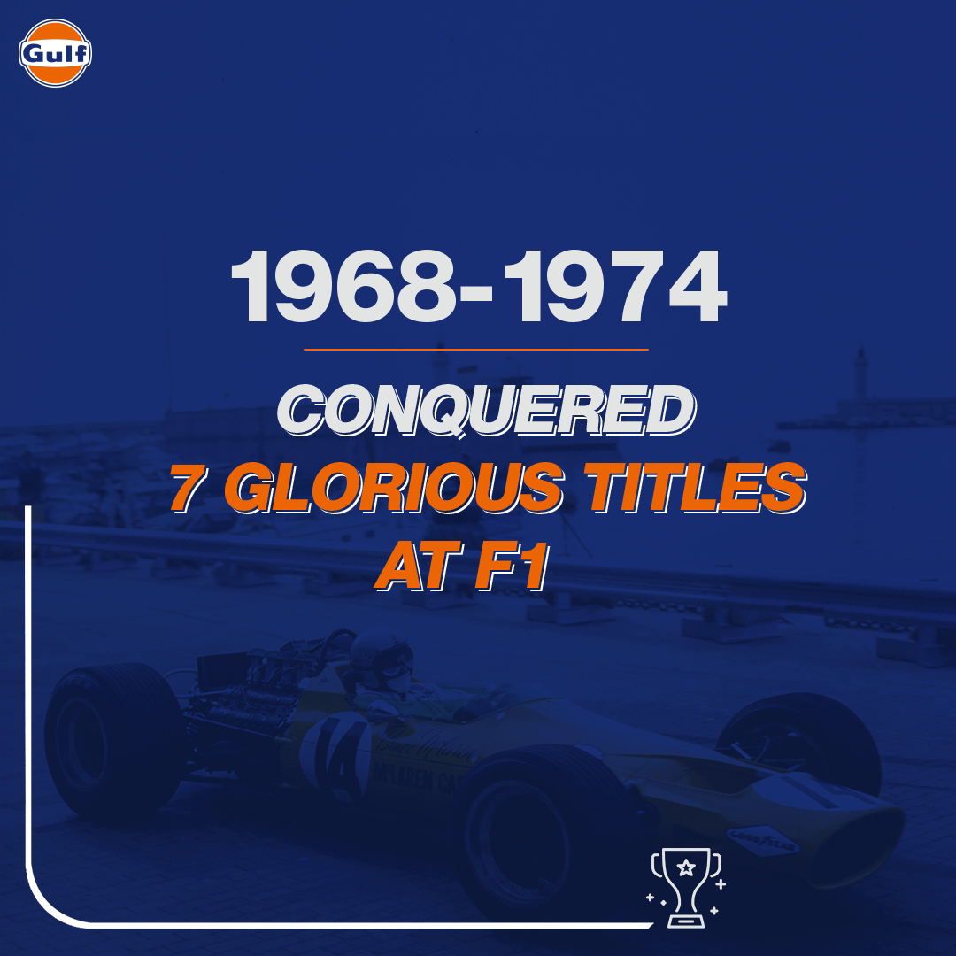 Back in the 60s & 70s, we had a memorable chapter in Gulf's glorious motorsport history with 7 F1 victories. We geared up for wins then. We're gearing up for even more wins now. We've got exciting news coming soon to get your pulse racing. Can you guess?🤫 #GulfShiftingYears https://t.co/VnfzniFCxt