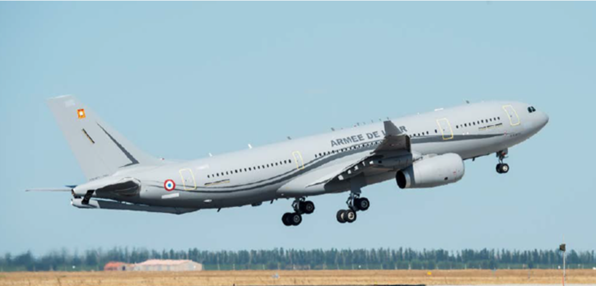 France is donating #COVID19 medical equipment to India & sharing technical expertise. The French Air Force A330 MRTT aircraft is on its way to deliver: - 50 Osiris-3 ventilators - 70 Yuwell 830 ventilators - 50k IgG/IgM test kits - 50k nose & throat swabs