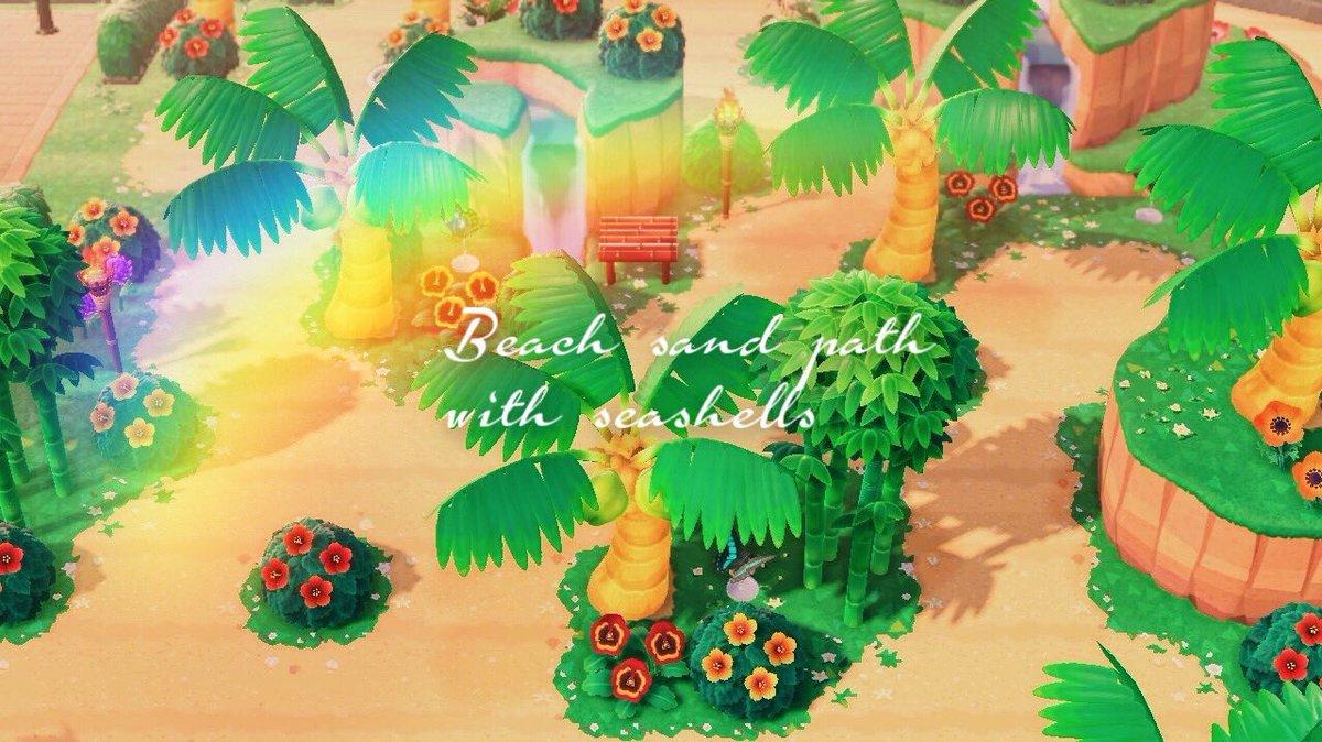 #マイデザまとめ🍹トロピカルな砂の道🍹ータグー砂の道 南国 ビーチ ハワイ リゾート ホテルSand Road Nankoku Beach Hawaii Resort모래 길 남국 비치 하와이 리조트#マイデザイン #マイデザ #マイデザインpro #동물의숲 #ACNHdesign #動物森友會 #あつ森 #ACNH#どうぶつの森©︎↓